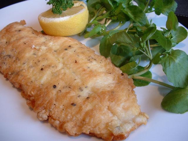 Pan-fried fillet of plaice