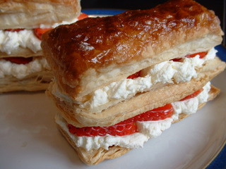 Strawberry and Cream Slices recipe