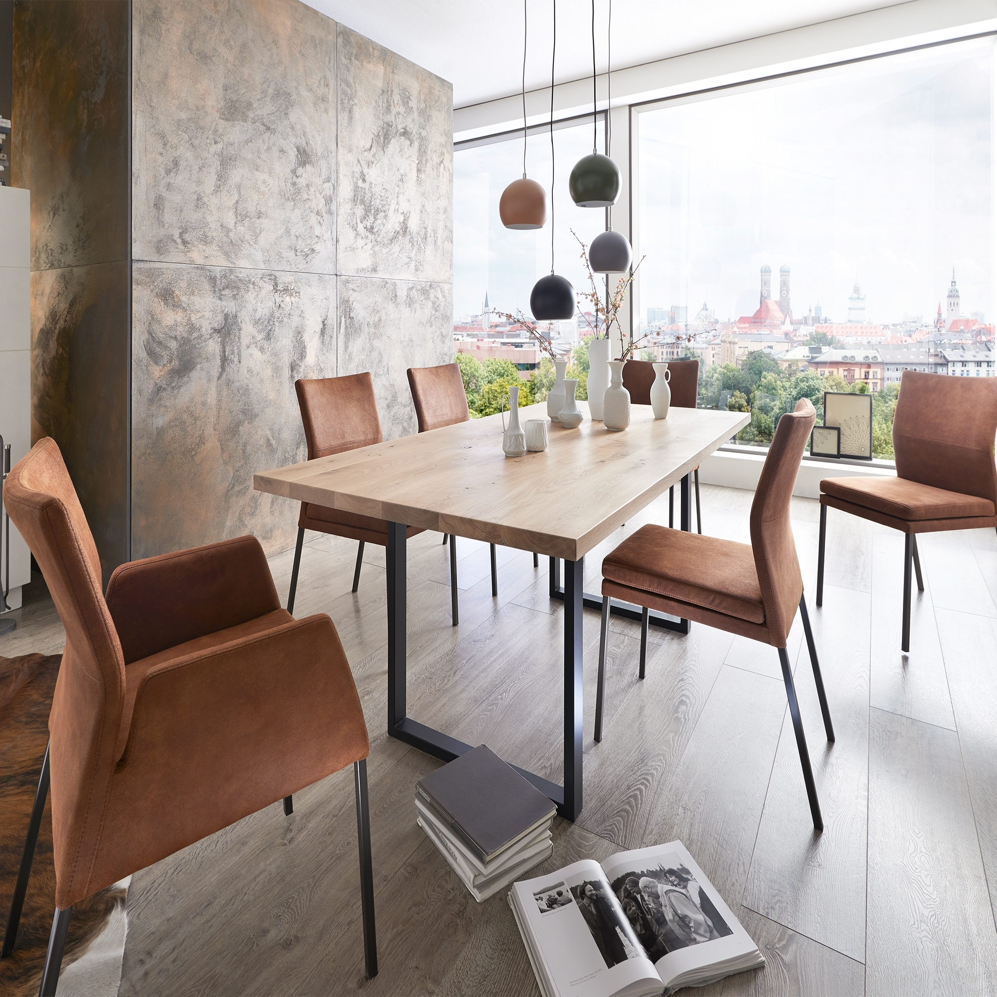 Fargo Dining Table 180cm 2 Armchairs And 4 Side Chairs Dining Sets