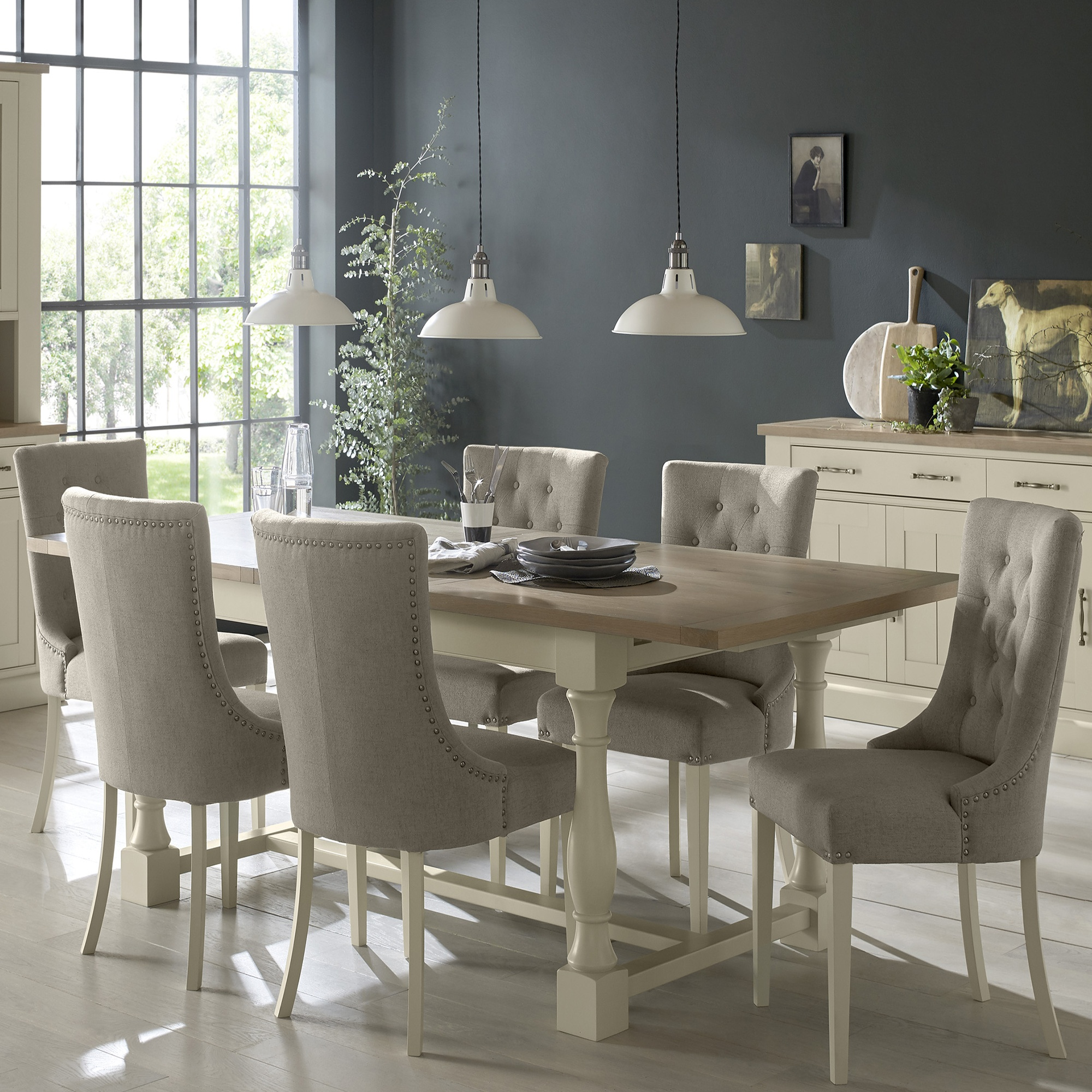 Cookes Collection Sloane Dining Table 4 Chairs And 2 Armchairs Dining Furniture