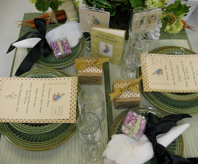 Creativity and Tale of Peter Rabbit Table Setting