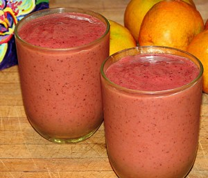 Blueberry Papaya Banana Orange Smoothie