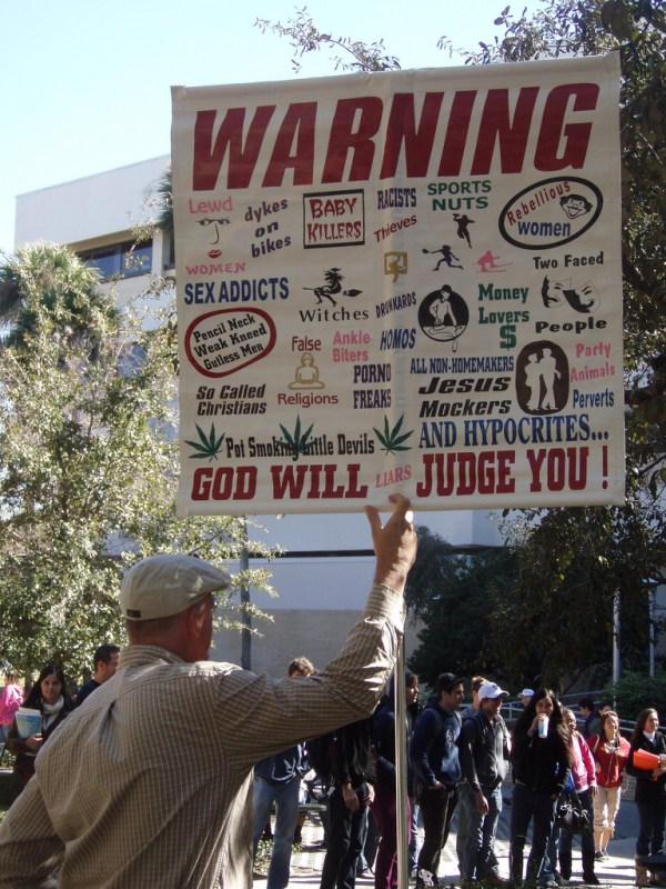 hostile Christian