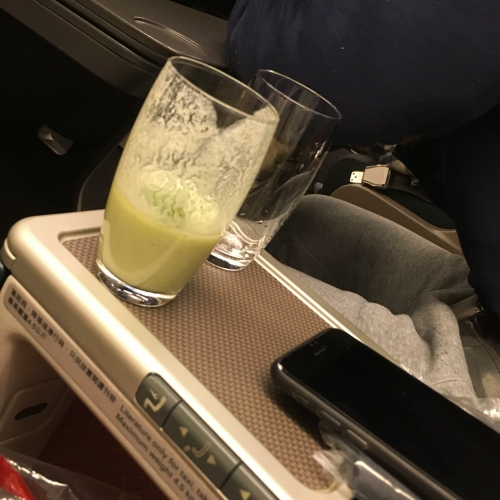 cathay-pacific-business-class-seat-review-hk-korea-flatbed-vs-regional-old-new-menu