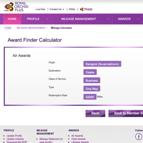 tg-thai-airways-mile-claim-redeem-osaka-tokyo-japan-bangkok-seoul-calculator