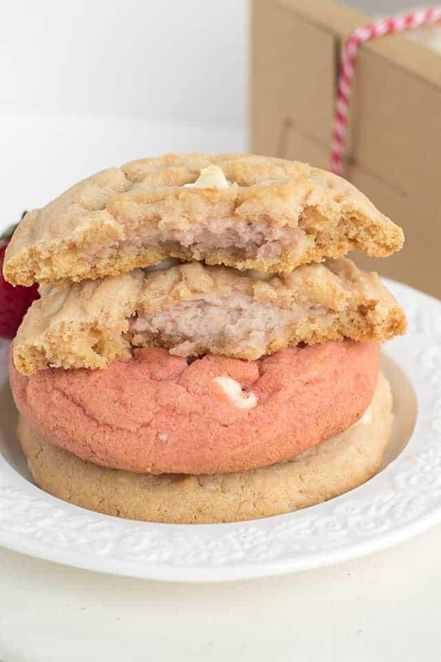 strawberry cheesecake cookies broke in half