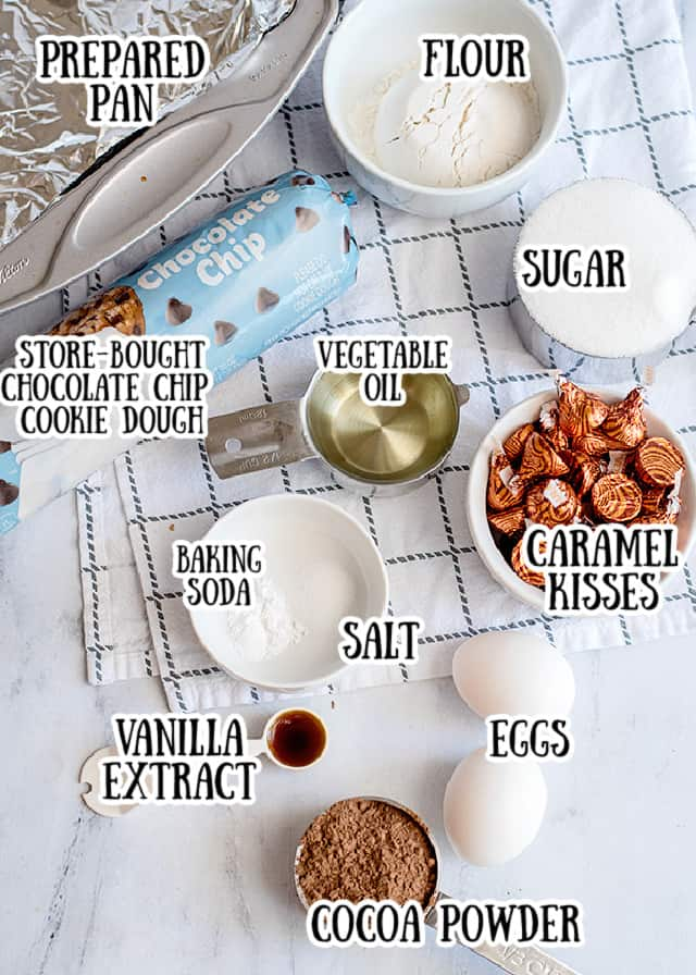 photo of ingredients for brookies with text stating what each ingredient is