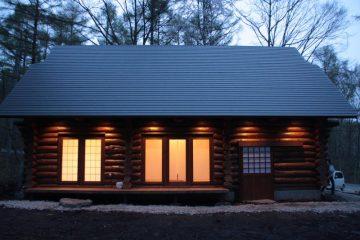 長野県飯綱町のハンドカットログハウス01