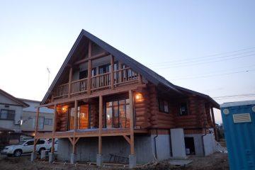 新潟県上越市のハンドカットログハウス01
