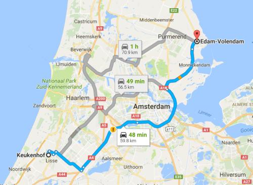Keukenhof to Edam-Volendam