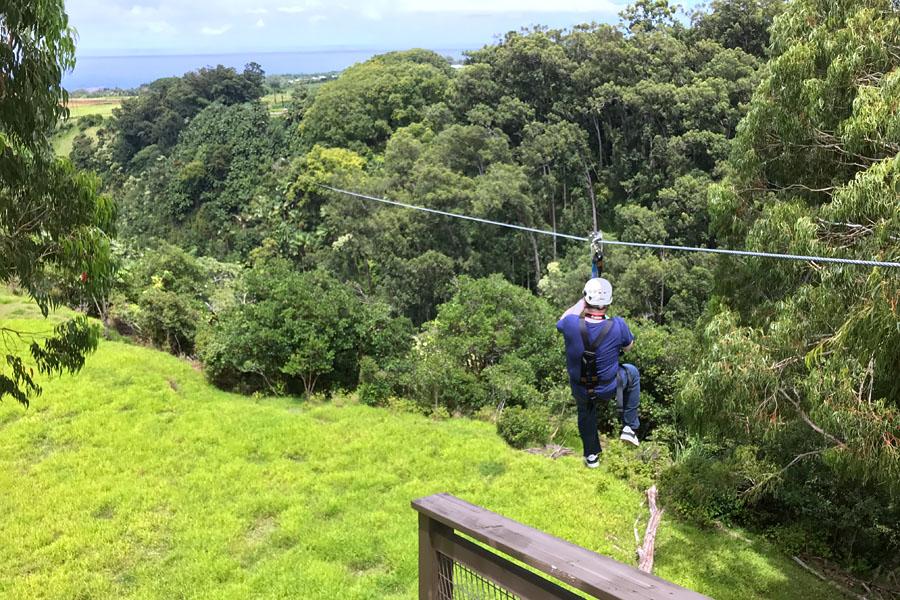 Things to do on the Big Island of Hawaii | Zipline near Akaka Falls Hilo with Eco Skyline Adventures
