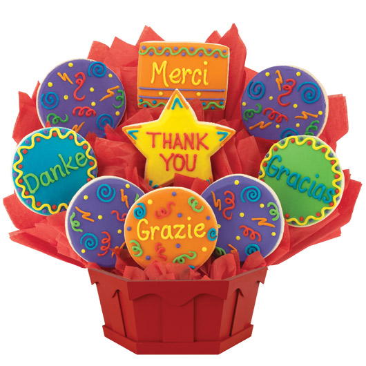 Unique Thank You Gifts Thank You Bouquet Cookies By Design