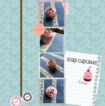 Soap cupcake