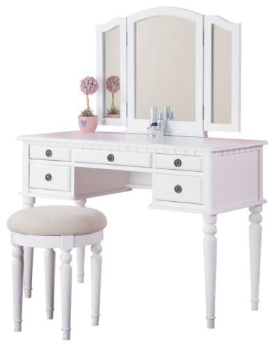 traditional-bedroom-and-makeup-vanities