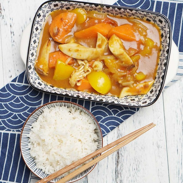 Japanese Curry Mushrooms & Vegetables with Rice