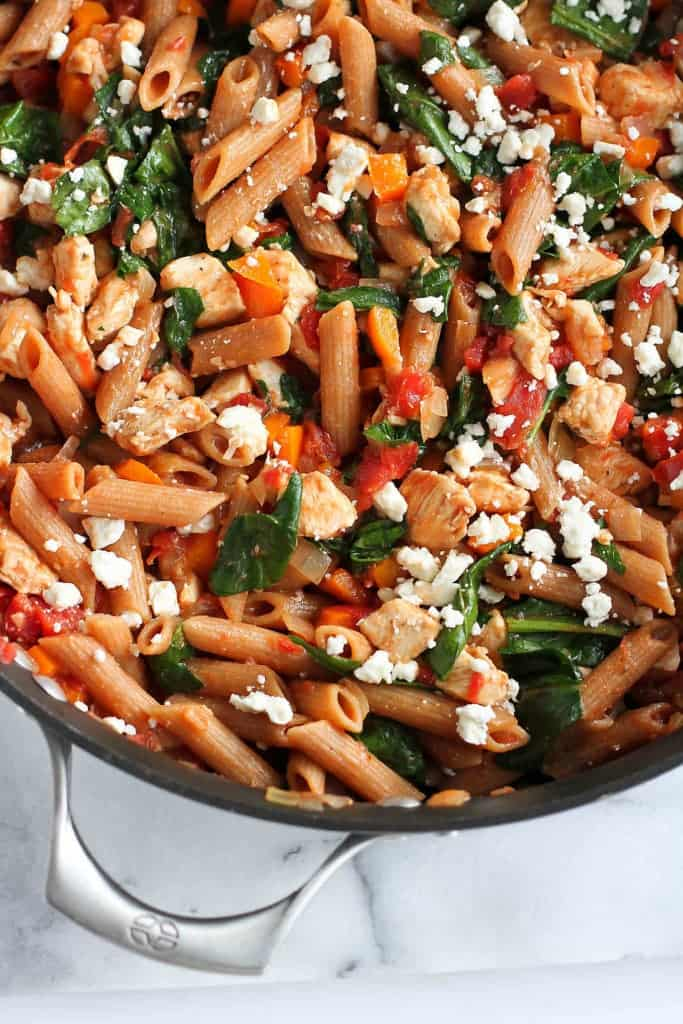 One-Pot Pasta Recipe with Chicken & Spinach - Healthy ...