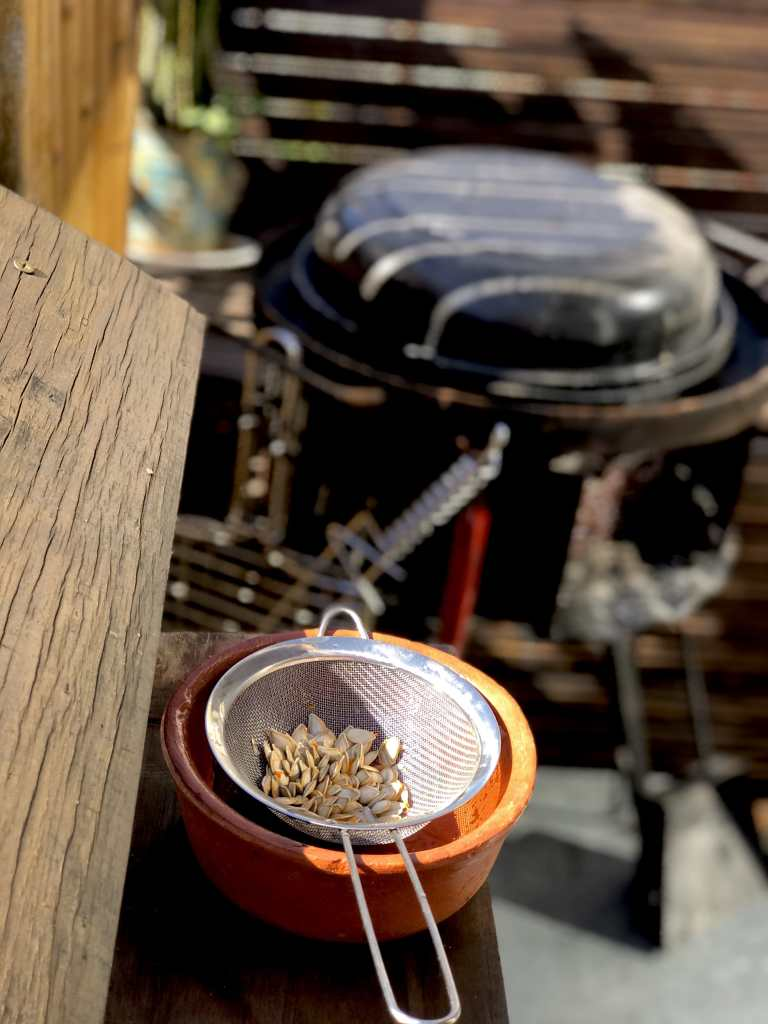 Trash cooking semillas de calabaza