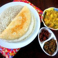 Dosa with Puffed Rice ~ 101 Dosa Varieties!