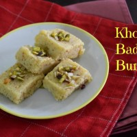 Khoya Badam Burfi | How to make Badam Burfi in Microwave