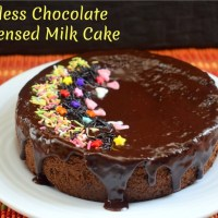 Eggless Chocolate Condensed Milk Cake