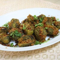 Stuffed Bitter Gourd Recipe | Gutti Kakarakaya | Stuffed Karela with Step by Step Recipe