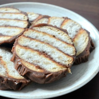 Marie biscuit chocolate logs recipe, step by step