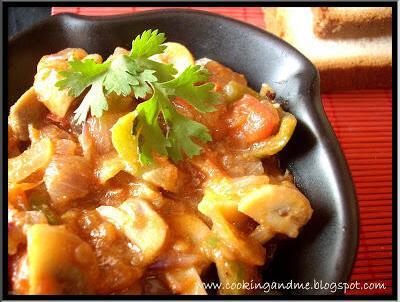Mushroom Masala-Mushroom Gravy-Mushroom Recipes