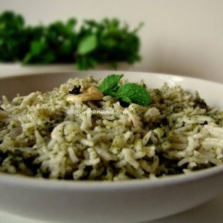 Pudina Pulao – Mint Rice Recipe – Pudina Rice Recipe