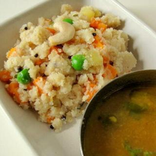 vegetable rava upma recipe