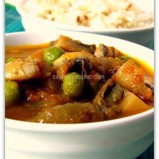 Mushroom Peas Curry / Matar Khumb Curry Recipe