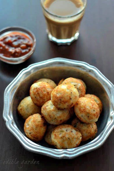 Quick and easy Indian Snack Recipes - Masala Paniyaram