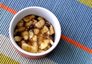 Banana Chocolate Hazelnut Crumble