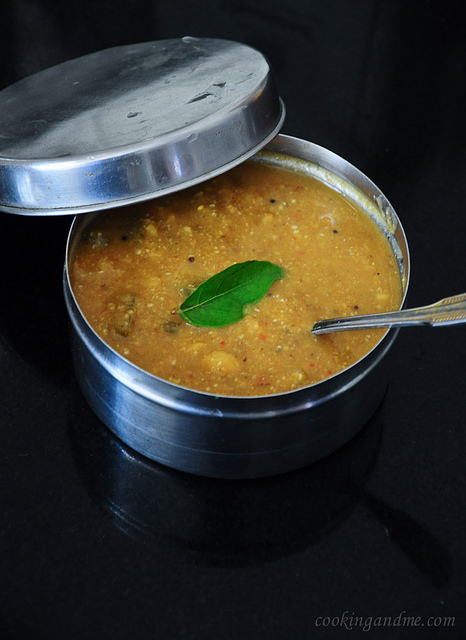 Kathirikai Chana Pitlai - Pitlai Recipe - Tamil Brahmin Recipes
