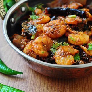 Kerala-Style Prawn Roast Recipe – Prawns or Chemmeen Roast Kerala-Style
