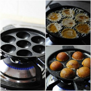 Unni Appam-Unniyappam-Neyyappam-Appam Recipe (with Rice Flour)