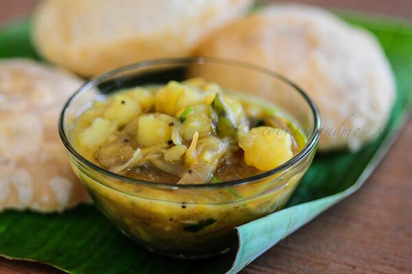 Potato Masala Recipe - Aloo Masala for Poori
