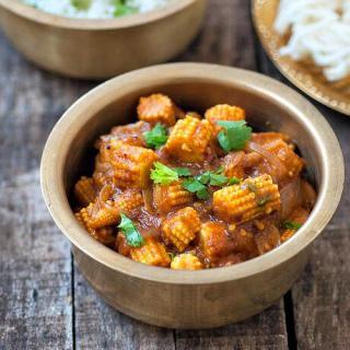 Baby Corn Masala Recipe – Indian Baby Corn Masala Recipe – Step by Step