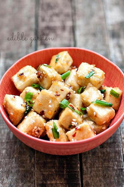 hot and sweet sesame tofu recipe