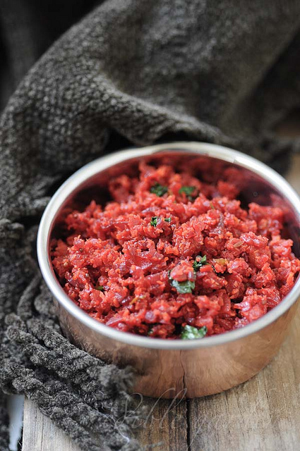 carrot beetroot thoran recipe - kerala style