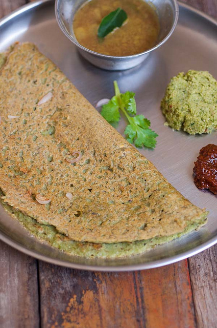 Andhra Pesarattu Recipe, Pesarattu with Green Moong Dal
