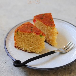 Pressure Cooker Eggless Sponge Cake Recipe Step by Step