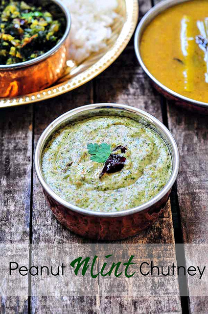 peanut mint chutney-peanut chutney with mint-7