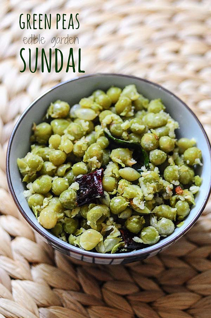 green peas sundal-south indian navratri recipe
