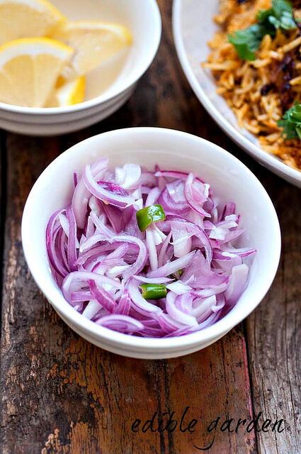onion challas-kerala sarlas salad recipe
