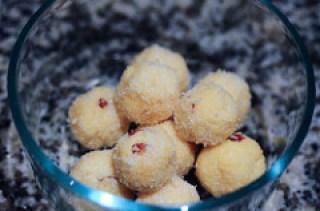 coconut ladoo-coconut laddu-easy diwali sweets-10