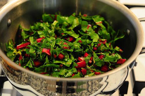 beetroot leaves dal-masoor dal recipe with beet leaves-10