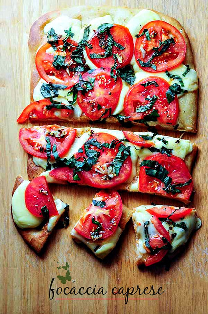focaccia caprese recipe-how to make focaccia bread