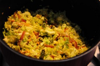 cabbage poriyal recipe-how to make cabbage poriyal-6