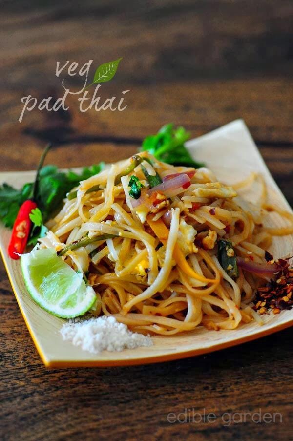 Pad Thai Vegetarian Pad Thai Noodles Recipe Step By Step Edible Garden