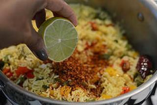 capsicum rice, capsicum masala rice recipe-7